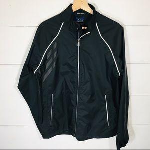 ADIDAS Packable Black Rain Jacket Raincoat SMALL